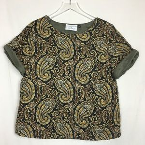 Top Shop & J.W. Anderson Quilted Paisley Shirt
